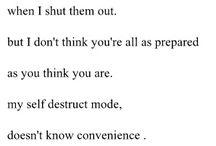 self hatred / by Amanda Bales
