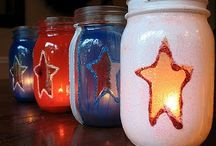* Red, White and Blue....Happy Birthday America! * / Decor, food and crafts to try. / by Rachel Rositas-Galicia