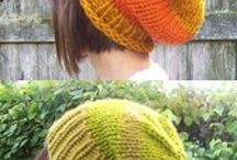 knitting hats and beanies / knitted scarfs, hats en gloves