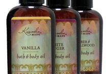 Bath & Body Oil & Lotions / Packed with organic oils, all optimal for skin care. Absorbs fast and goes on light. Very versatile, use on hair or in the bath. Great for a lavish massage too.  And Kuumba Made Delicately Scented Lotions - A light and clean body moisturizer that absorbs fast and lasts. Smells so good!
