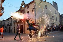Correfocs Tarragona / Vuurduivels, ball del diables, vuurwerk, draken, optochten, oppassen. Correfocs in de Catalaanse provincie Tarragona.