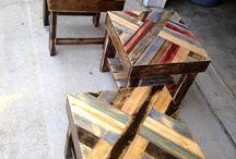 Table basse palette coloré
