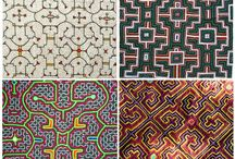 Shipibo Art / Peru indigenous tribe: Shipibo and their art. Beautiful patterns.