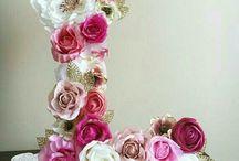 Decorado com flores