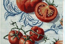 Cross Stitch fruits, vegetables