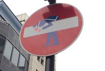 """No Entry Signs / All about street art - with London's """"no entry"""" signs as the canvas!"""