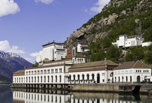 Tysso I hydropower station / Historic architecture by the fjord in western Norway. Hydropower in stunning surroundings. Today a living museum and event place. Contact post@nvim.no for more information