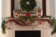 Christmas Mantels / Christmas decorated mantles