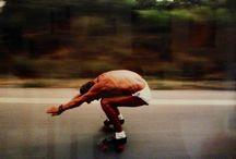 Road trip Roller benoît Boyer / Voyages en patins a travers le monde de 1985 à 2000 .