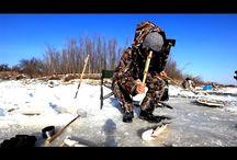 Ловля крупной щуки на жерлицы. Рыбалка в Сибири.
