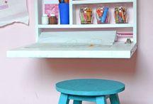 Home Organization / Kids art table