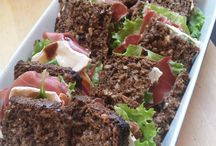 TINGS FOOD - RECIPES: Open Ryebread sw w. ham, goat cheese & baslamico