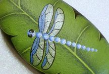 Dragonflies -painted rocks