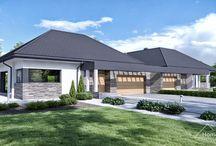 HomeKONCEPT 42B | Projekt domu / HomeKONCEPT 42B to projekt dwóch domów jednorodzinnych w zabudowie bliźniaczej (parterowy z garażem 2-stanowiskowym).