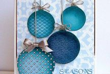 embossed coloured circle cards