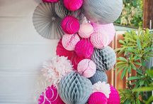 Paper decorations for party