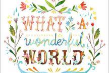What a wonderful world!