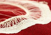 we see what we want / Monica Evola  Model: Vittoria Fornasier  #fashion #knitting #embroidery #fashionatiuav #2014