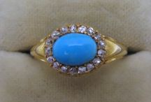 Antique Turquoise Rings / Antique Turquoise Rings from Friar House Antiques www.friarhouse.com