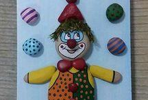 Galet clown