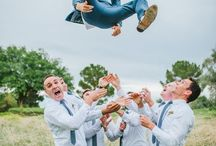 Lustige Gruppenfotos Hochzeit / Ungezwungene, witzige Gruppenfotos mit euren Hochzeitgästen, die allen Spass machen.