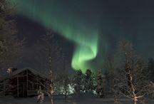 Northern lights / Some photos about Northern Lights in Äkäslompolo yard of the Hotel Seita. Ylläs