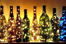 Flasche+Lichterkette