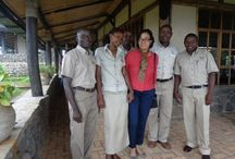 Famous people / Famous people who have been at our lodges!  http://www.volcanoessafaris.com/world-bank-team-visits-virunga/ / by Volcanoes Safaris