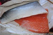salmón marinado y tartar