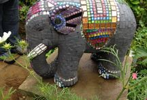 Mosaic elephants