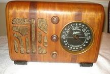 Vintage radios, record players, TVs, etc.