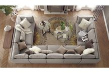 U Sofa Living Rooms