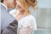 Couronnes de fleurs et bouquet mariée