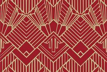 Art Deco Wallpaper / Art Deco Wallpaper and Art Nouveau Wallpaper available at Chameleon Collection