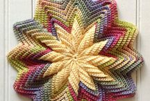Crochet Coasters, Pot Holders, Cloths