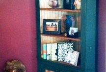 Wooded cabinet,shelves / All kinds
