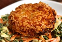 Vegan Chickpea Cakes with Mashed Avocado | Recipe