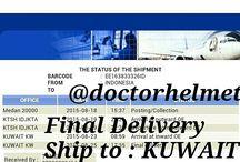 The Status Of The Shipment / Make an order on www.doctorhelmet.com