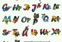 Alfabeto super heróis