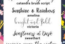 Font {Love} ♥ / Beautiful fonts - pairings, scripts, modern and traditional font ideas and inspiration