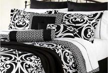 Damask Black And White Duvet Cover