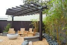My garden retreat / Somewhere to chill with a nice glass of wine.