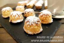Dulces de almendra / Para desayuno o merienda: #dulces de #almendra Fácil #receta casera pasoa paso (incluye video HD)  http://www.golosolandia.com/2015/02/dulces-de-almendra.html