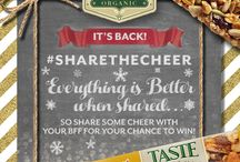 #ShareTheCheer 2015 / #ShareTheCheer is at the heart of who we are and how we want the world to be. If we all just shared a little, loved a little and cared a little more… imagine what that could look like.  Giveaways happening on the following channels until Dec 18th 2015! Facebook: http://www.facebook.com/tasteofnature Twitter: http://twitter.com/Taste_of_Nature Instagram: http://www.instagram.com/tasteofnature/ Contest Details:  USA: bit.ly/ShareTheCheer  CAN: bit.ly/1RTNA69