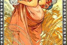 Alfons Mucha / Malby,užitkové předměty,dekorace