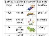 Prefixes and sufixes