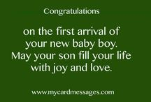 Baby card messages / Best baby wishes for gift baskets, cards etc