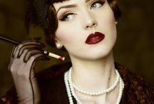 1920s hair, headwear and makeup