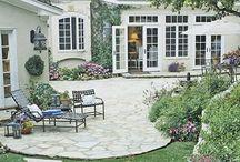 House patio and garden
