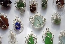 Wire wrapping sea glass for jewelry